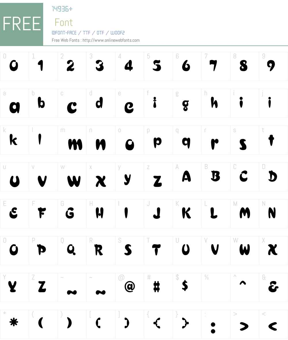 NN-mwX1 Font Screenshots