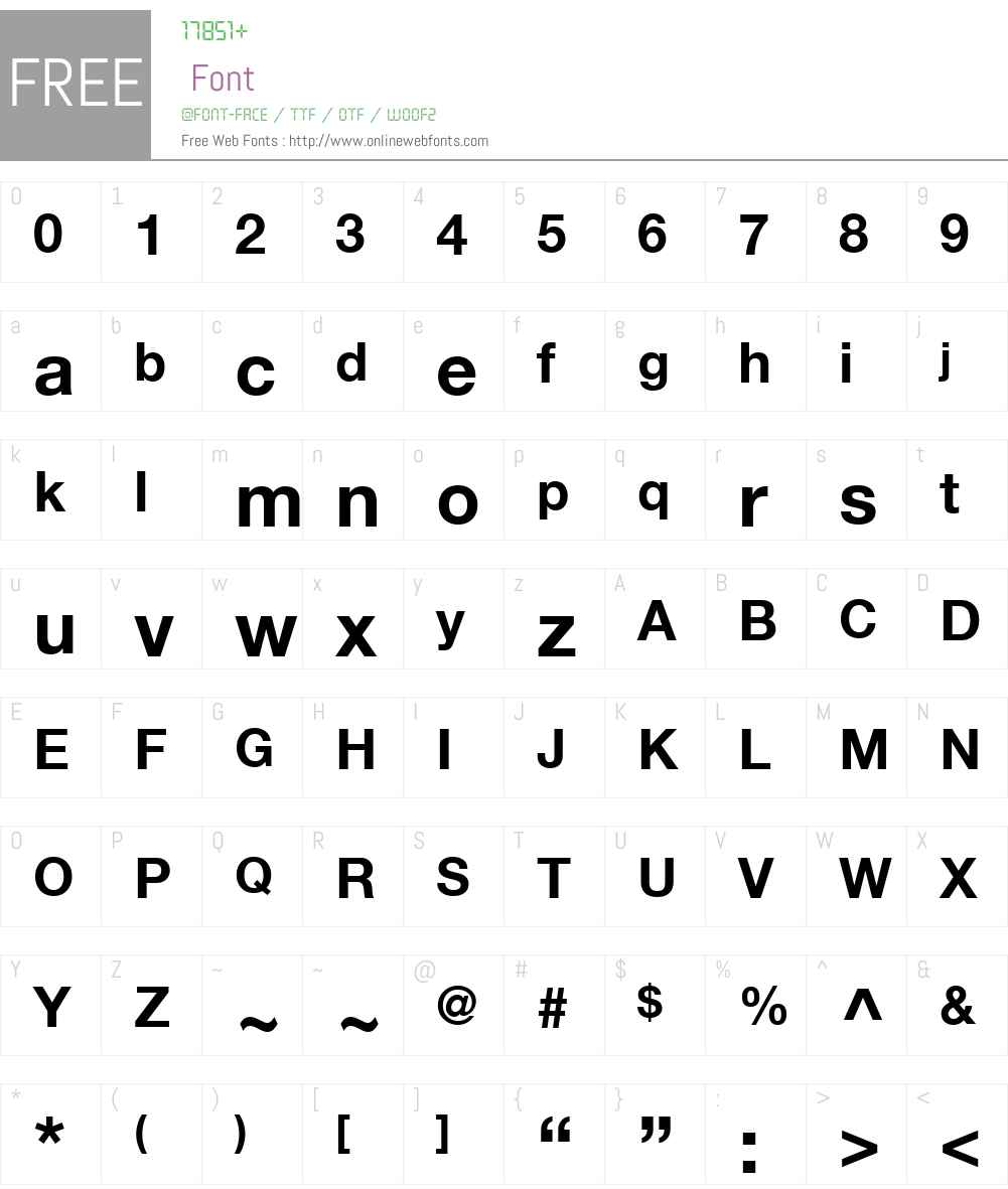 Helvetica Neue W23 for SKY Bd Font Screenshots
