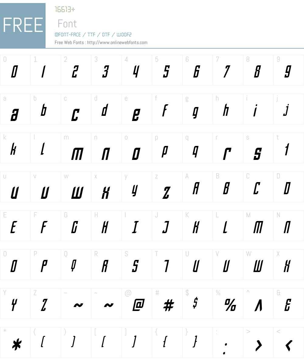 SF Piezolectric Condensed Font Screenshots