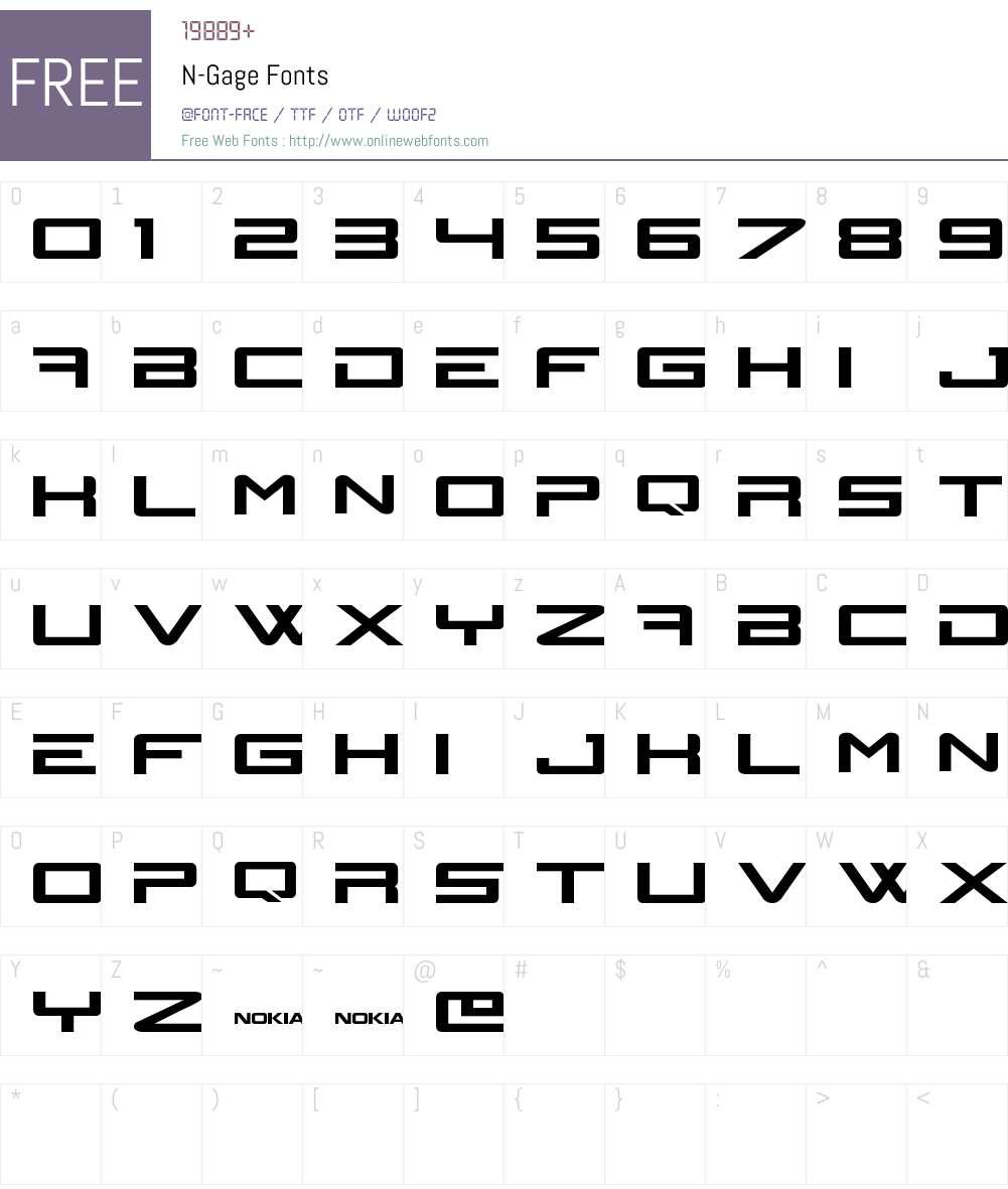 N-Gage Font Screenshots