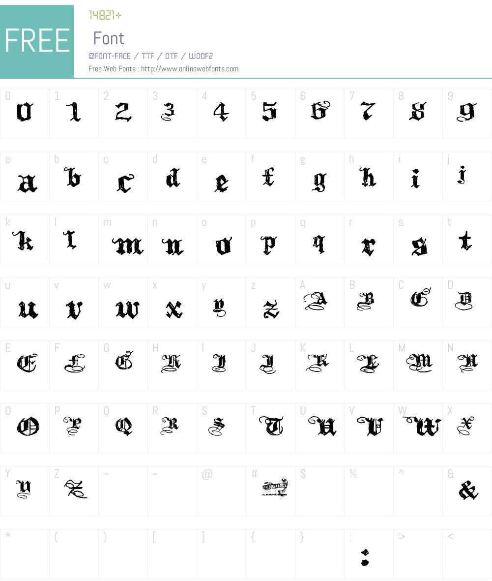 Kothika Font Screenshots