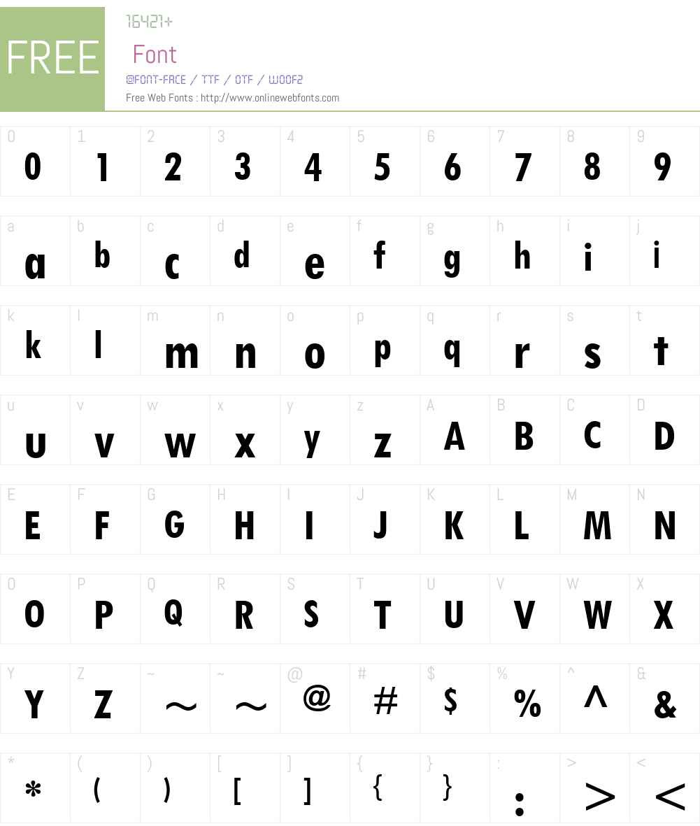 Tw Cen MT Condensed Font Screenshots