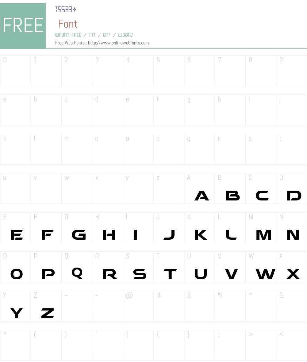BEHATRICE Font Screenshots