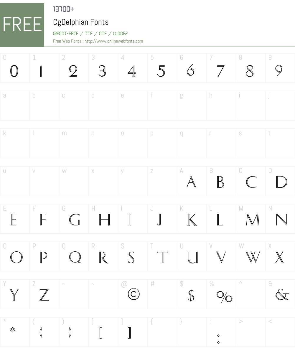 CgDelphian Font Screenshots