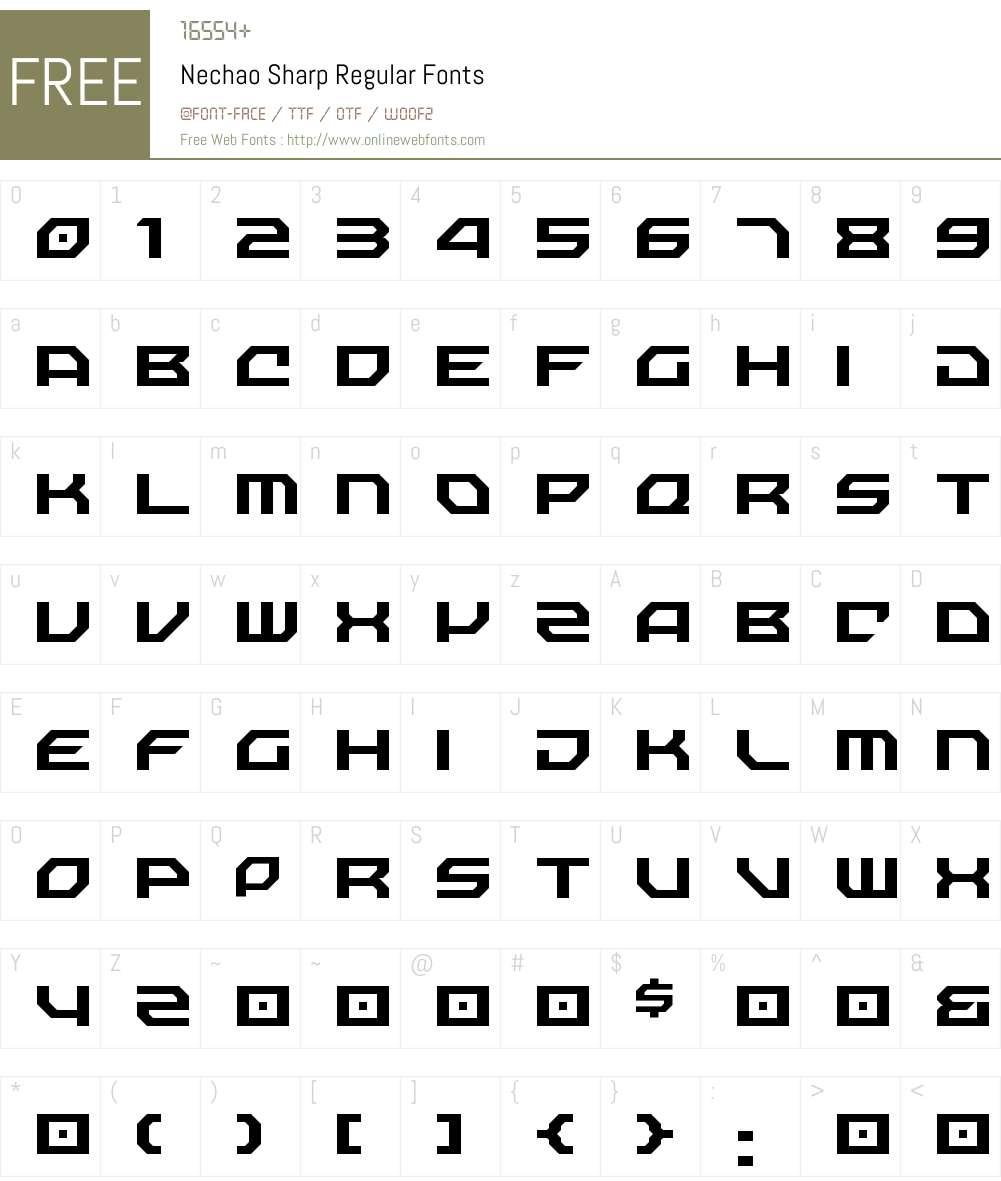 Nechao Sharp Font Screenshots