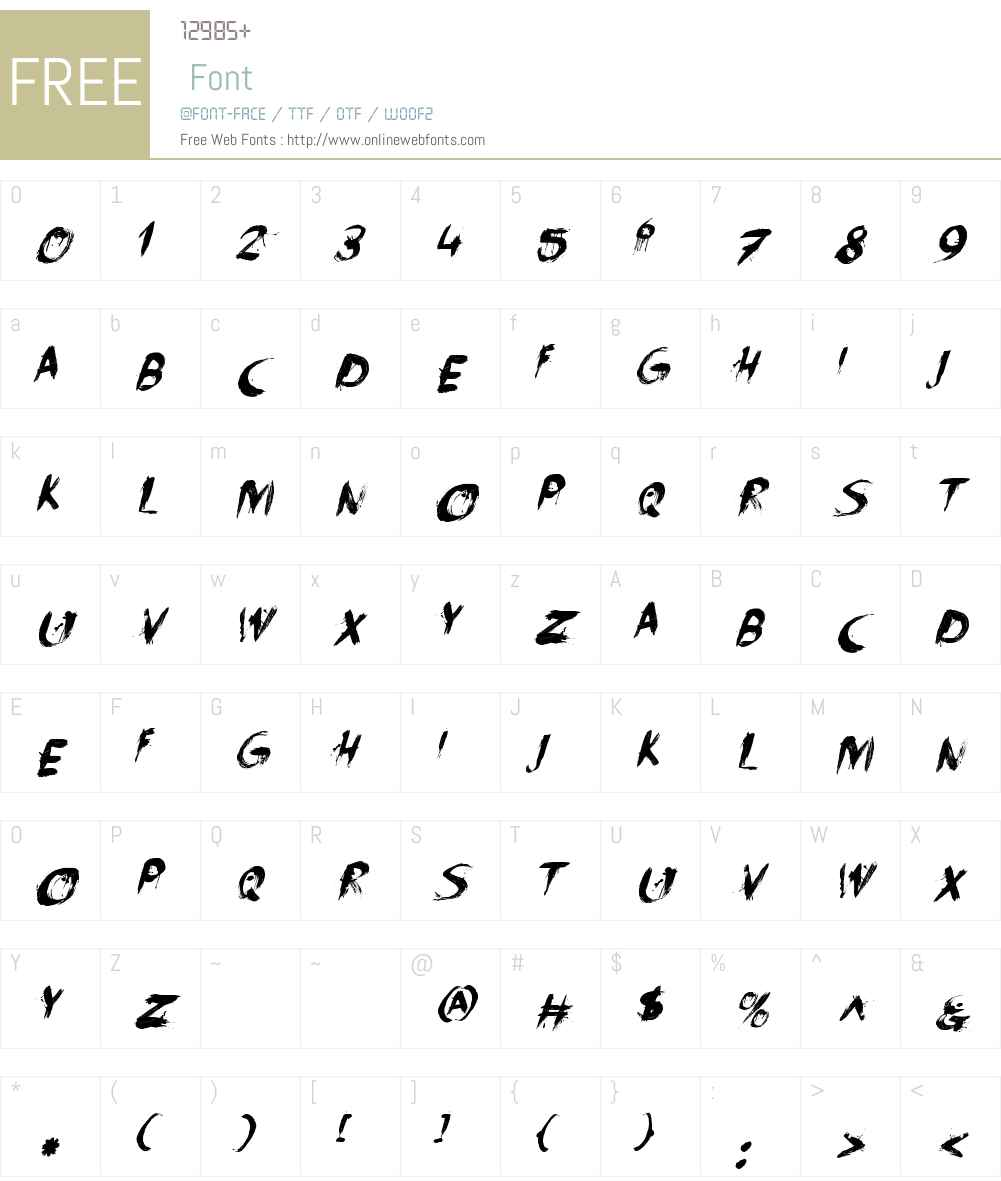 FaceYourFearsW00-Italic Font Screenshots