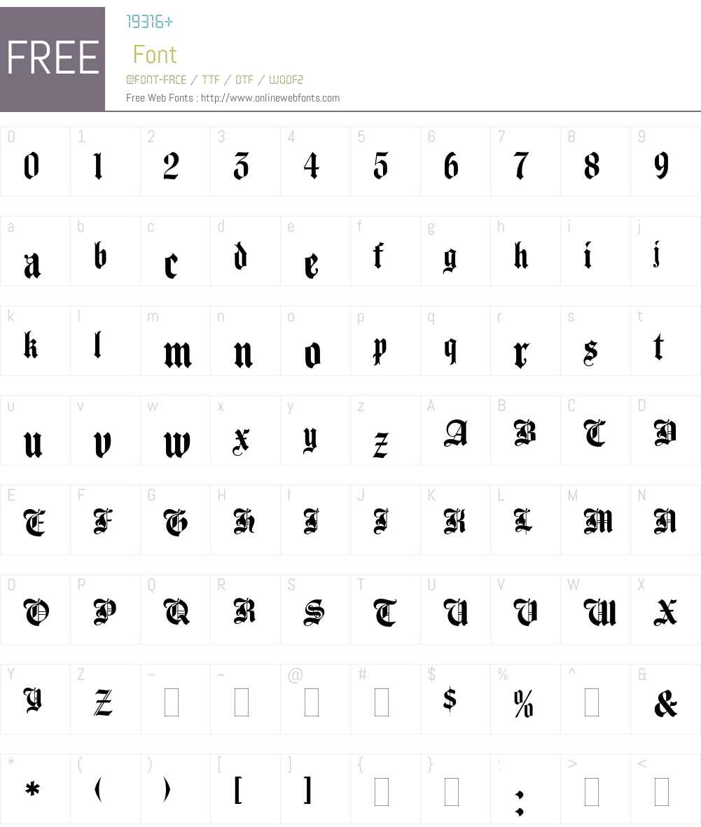 Agincourt Font Screenshots
