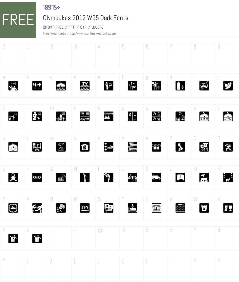 Olympukes-2012 Font Screenshots