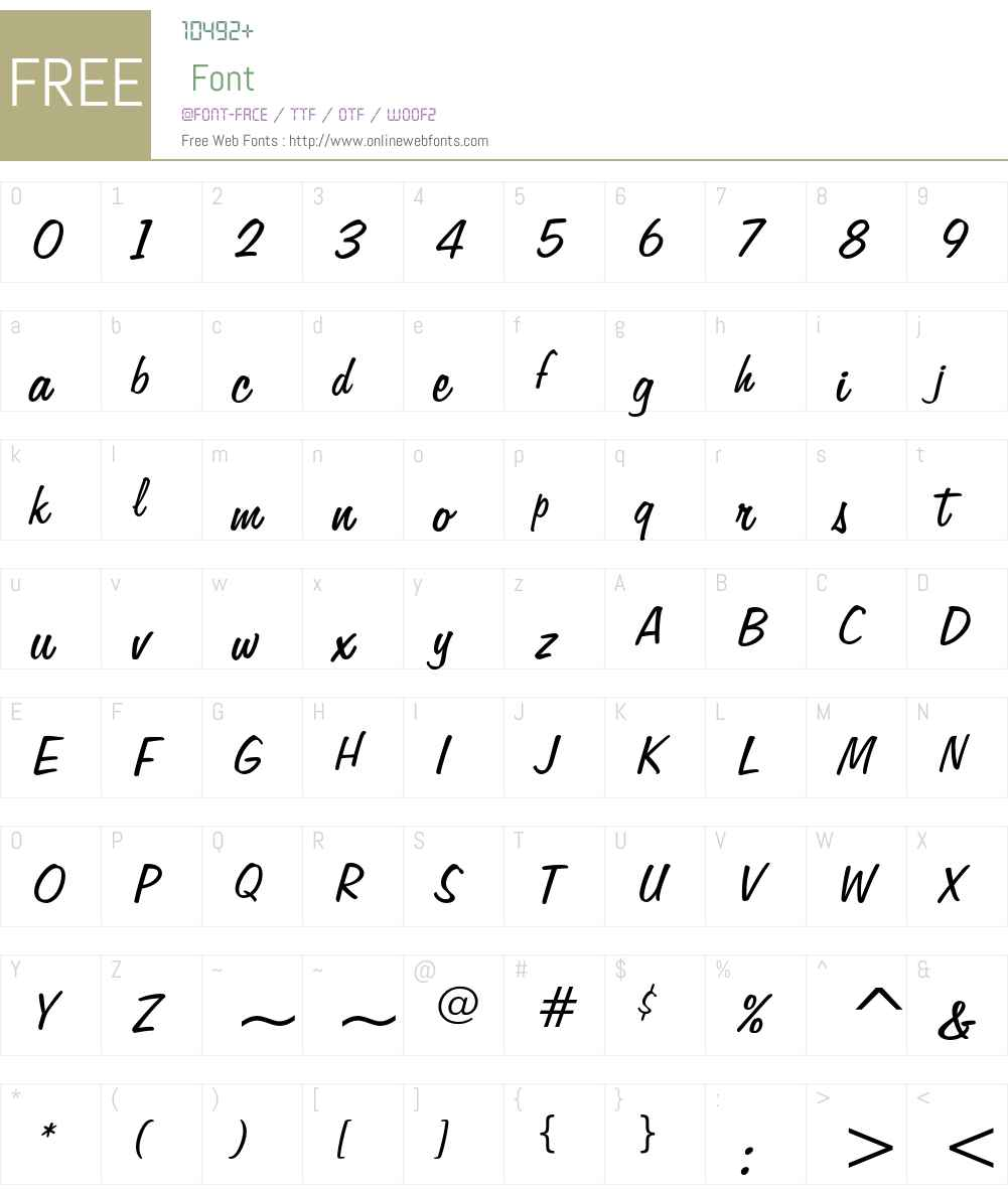 Freehand 575 Font Screenshots