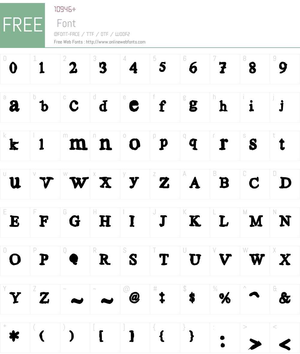Aulden Times Font Screenshots