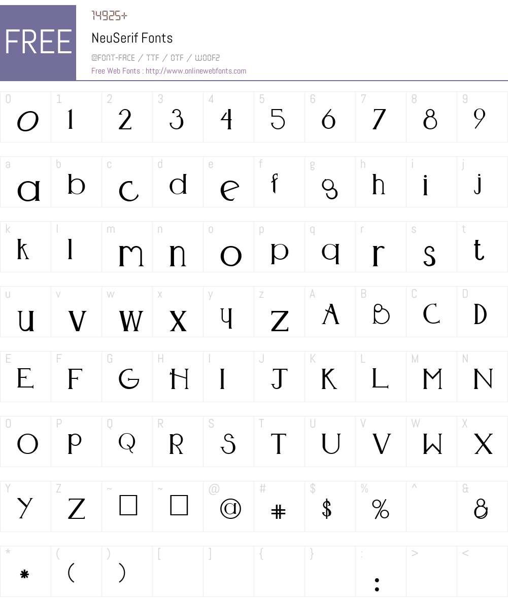 NeuSerif Font Screenshots