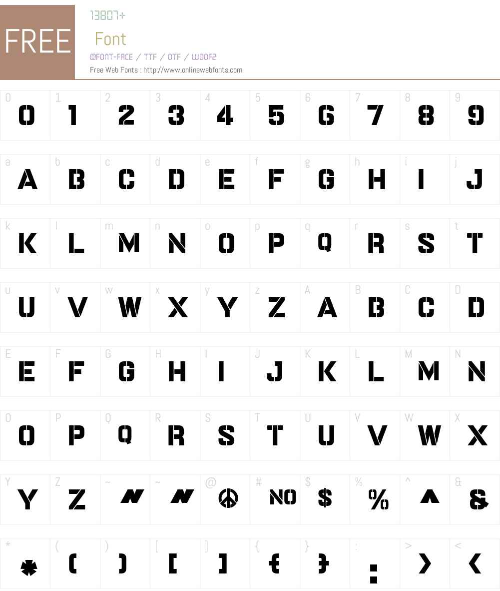 DoubleDaggerW01-Extrabold Font Screenshots
