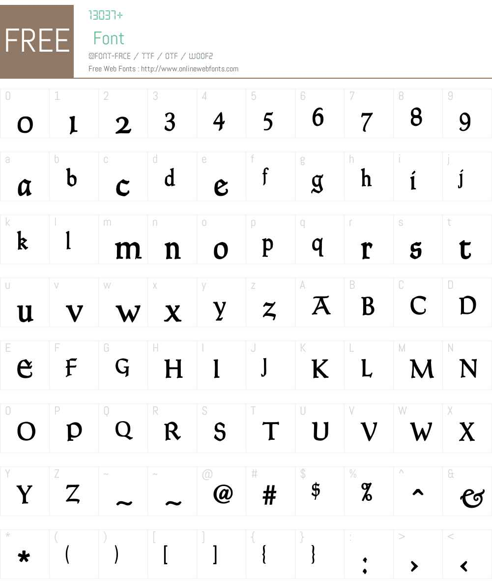 Goudy Thirty Font Screenshots