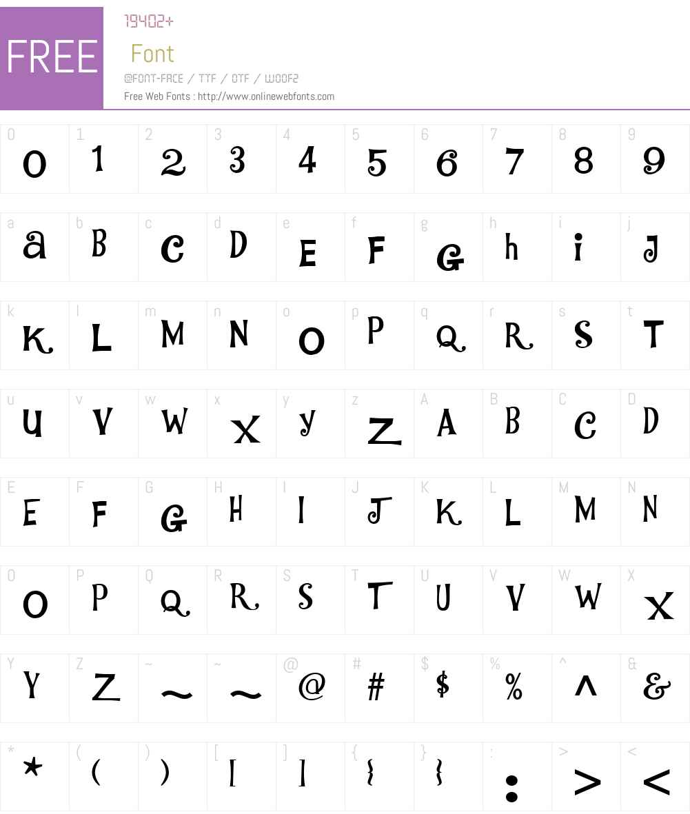 WhoaNellyNFW01-Regular Font Screenshots