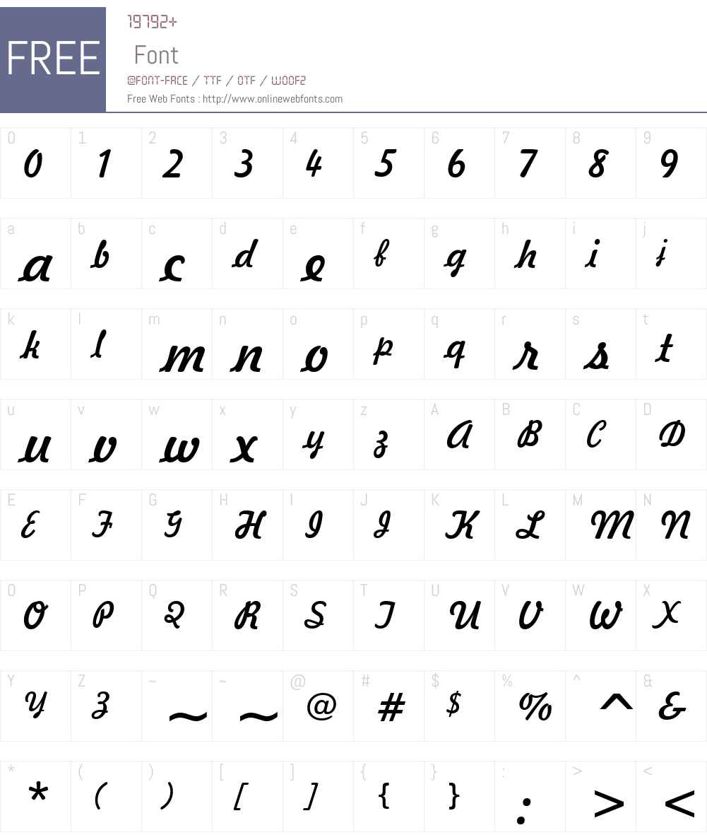 Freehand 521 Font Screenshots