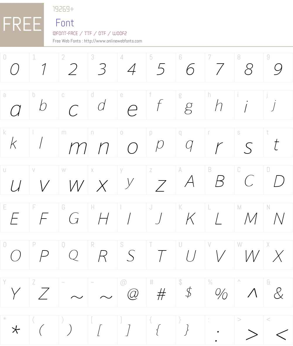 HT Sonus Font Screenshots