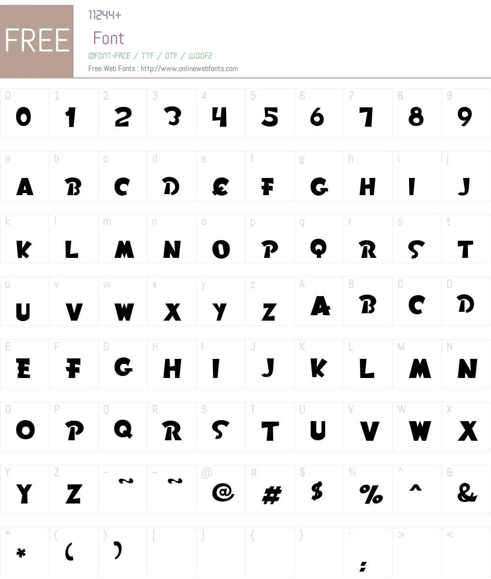 Rom Font Screenshots
