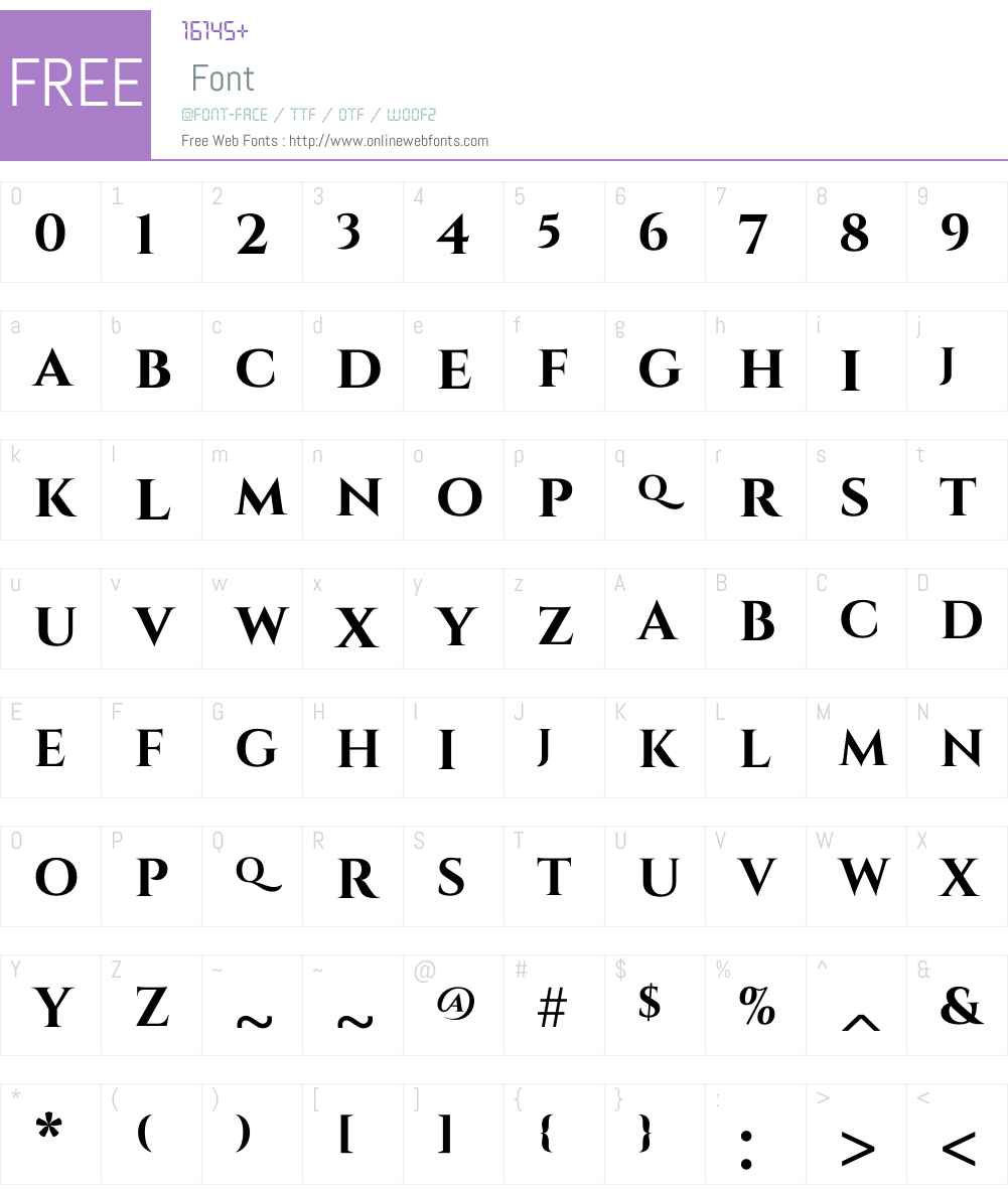 Cinzel Font Screenshots