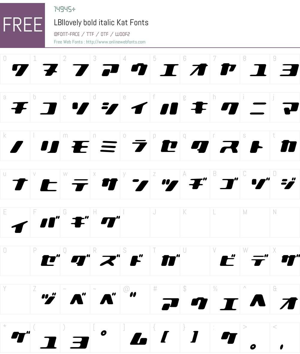 LBIlovely bold italic Font Screenshots