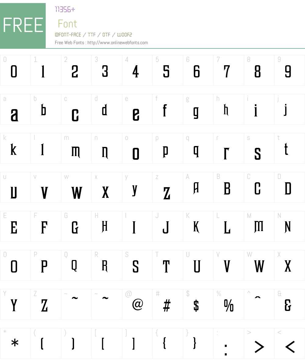 Excelsis Font Screenshots