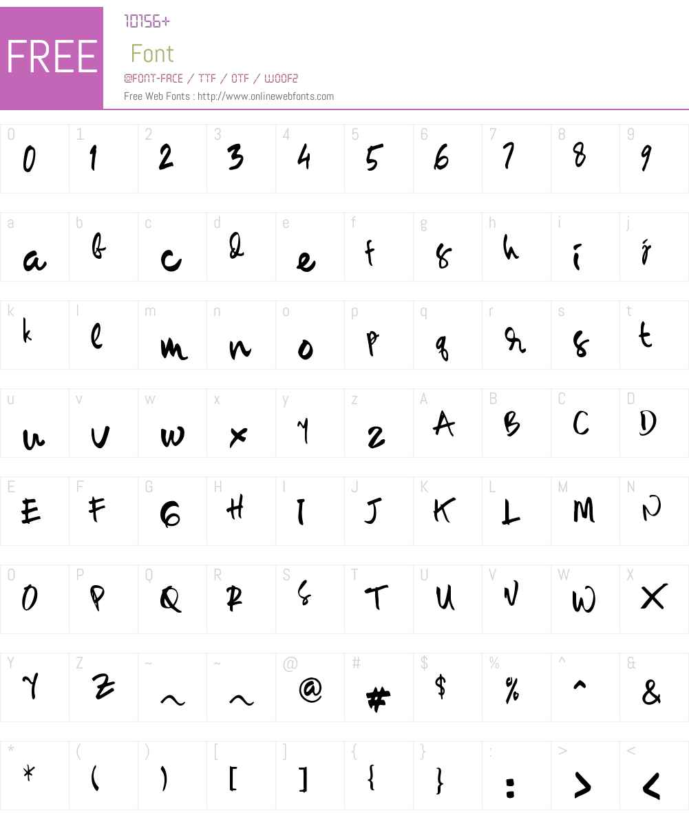 Sambay Font Screenshots