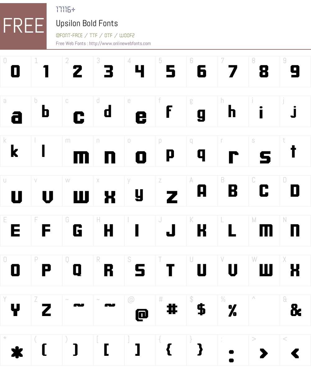 Upsilon Bold Font Screenshots