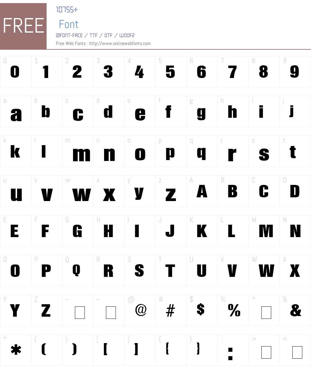 Choque Display Condensed SSi Font Screenshots