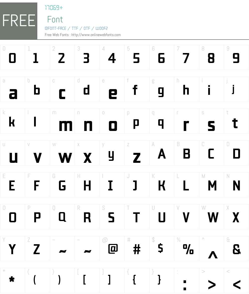 LabSansW01-Bold Font Screenshots