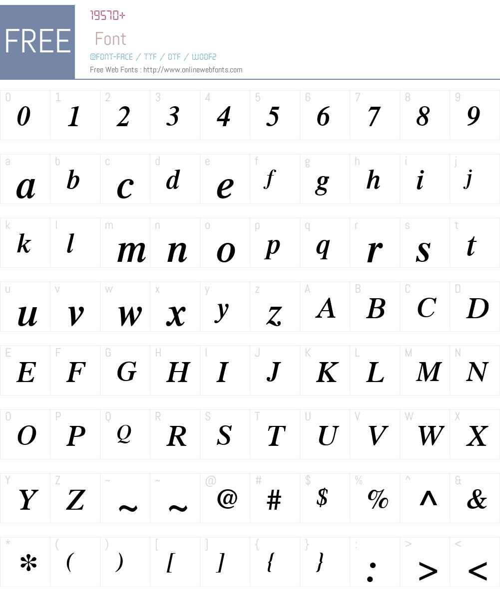 TimesLTW01-SemiboldItalic Font Screenshots