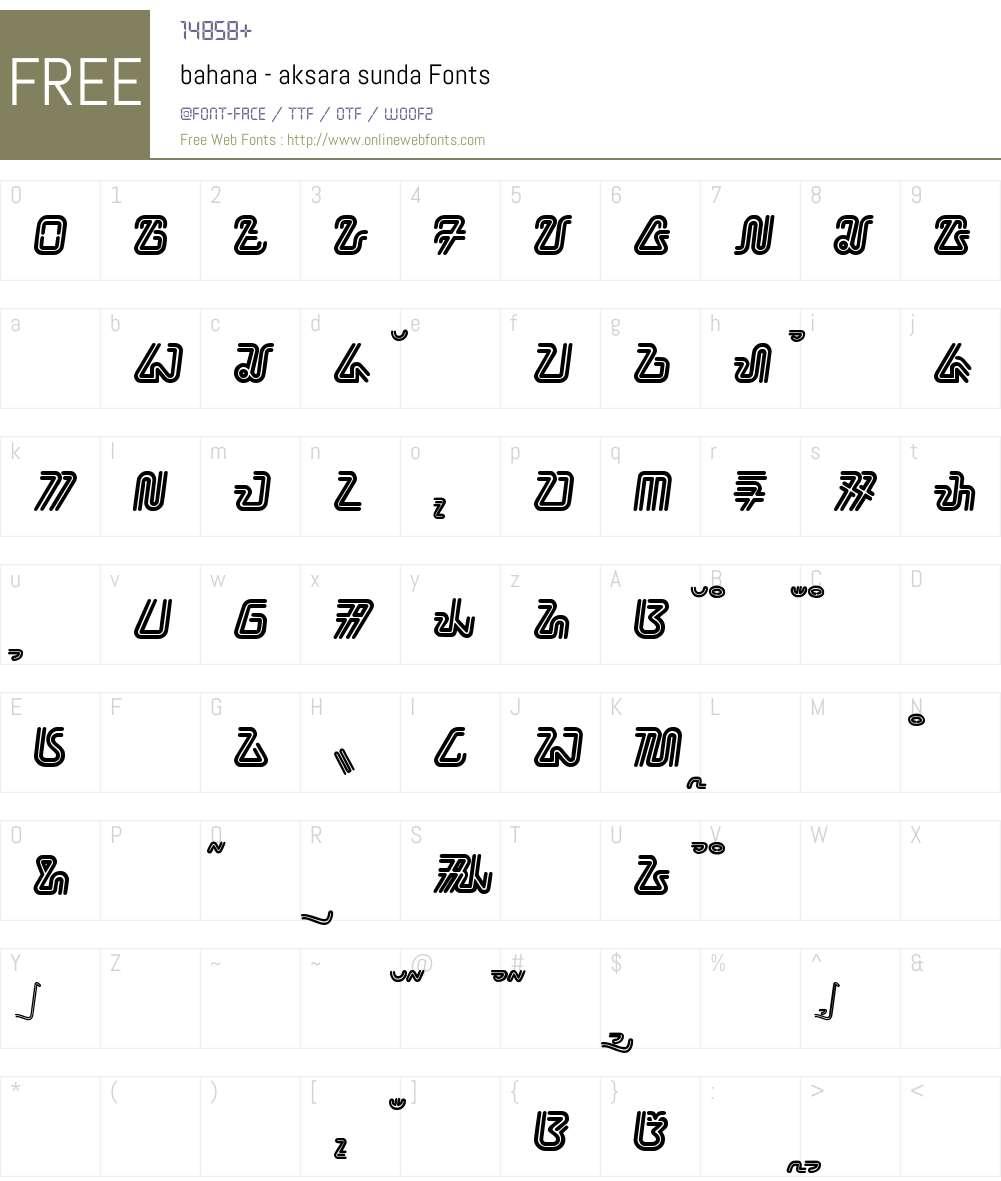 bahana - aksara sunda Font Screenshots