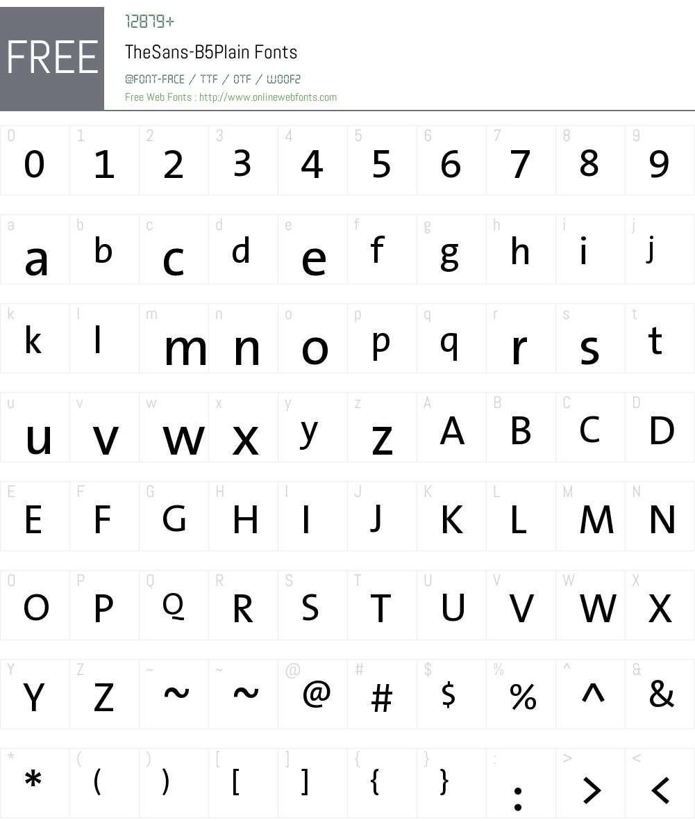 TheSans B5 Plain Font Screenshots