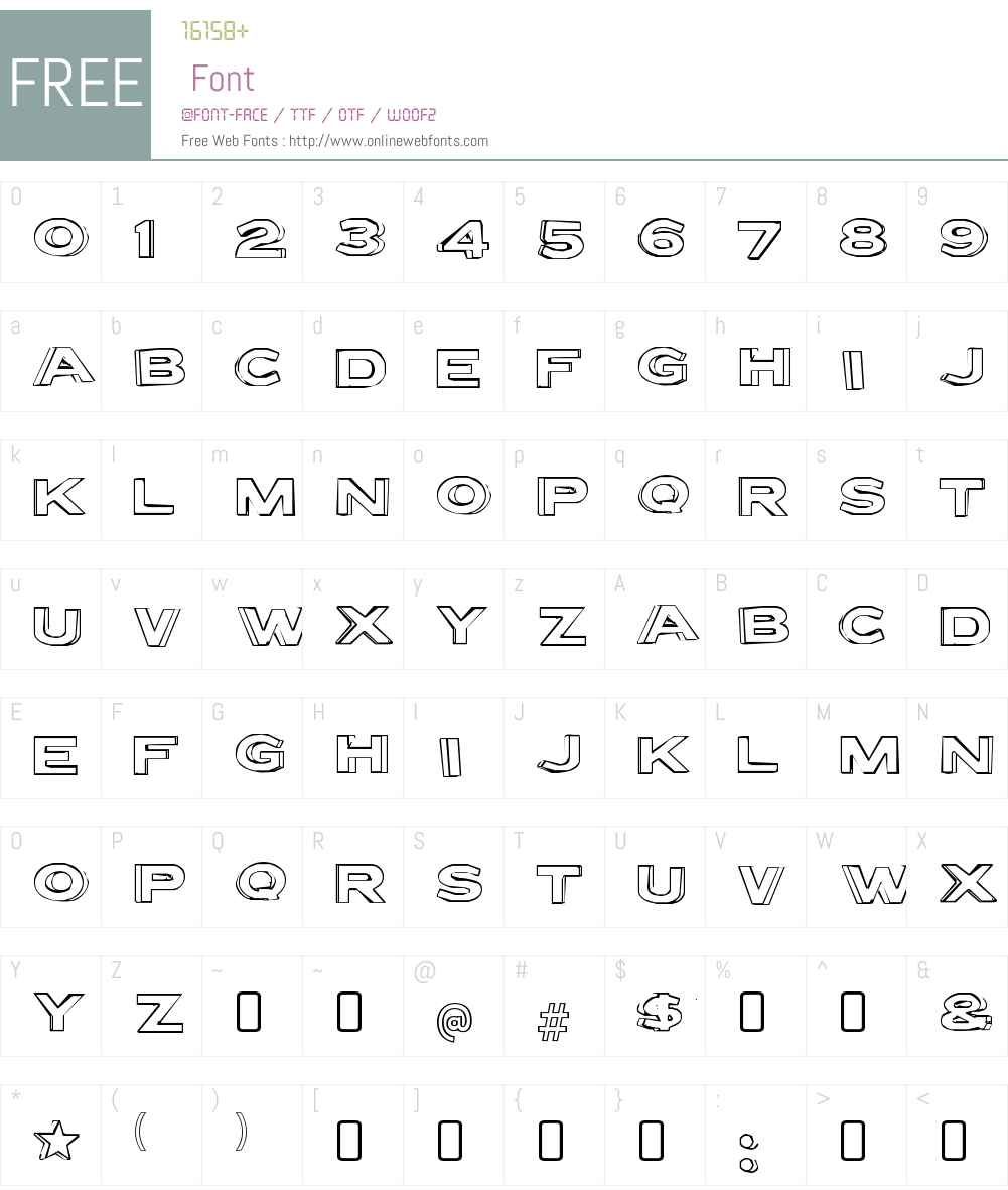 Letter Set Font Screenshots