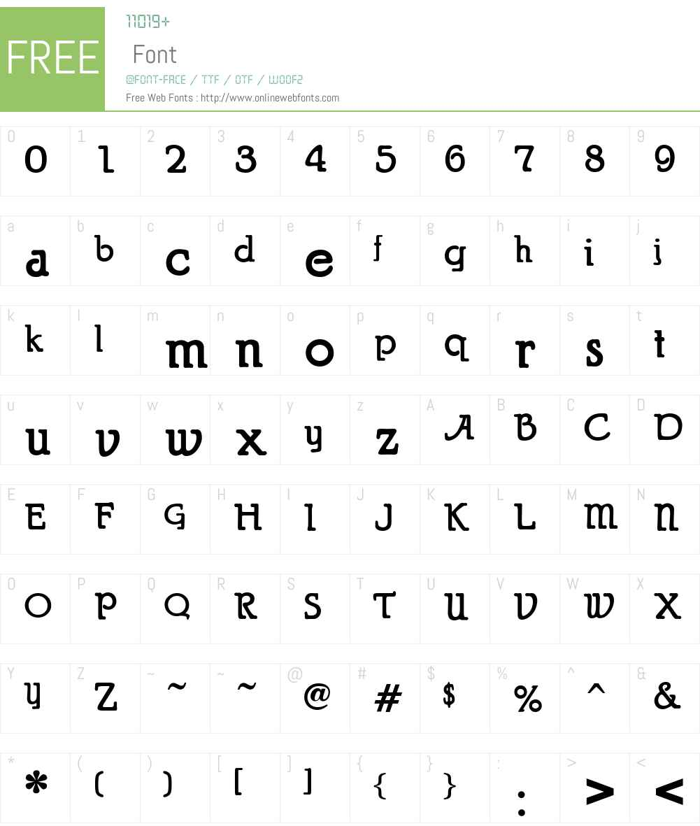 Puritan Font Screenshots