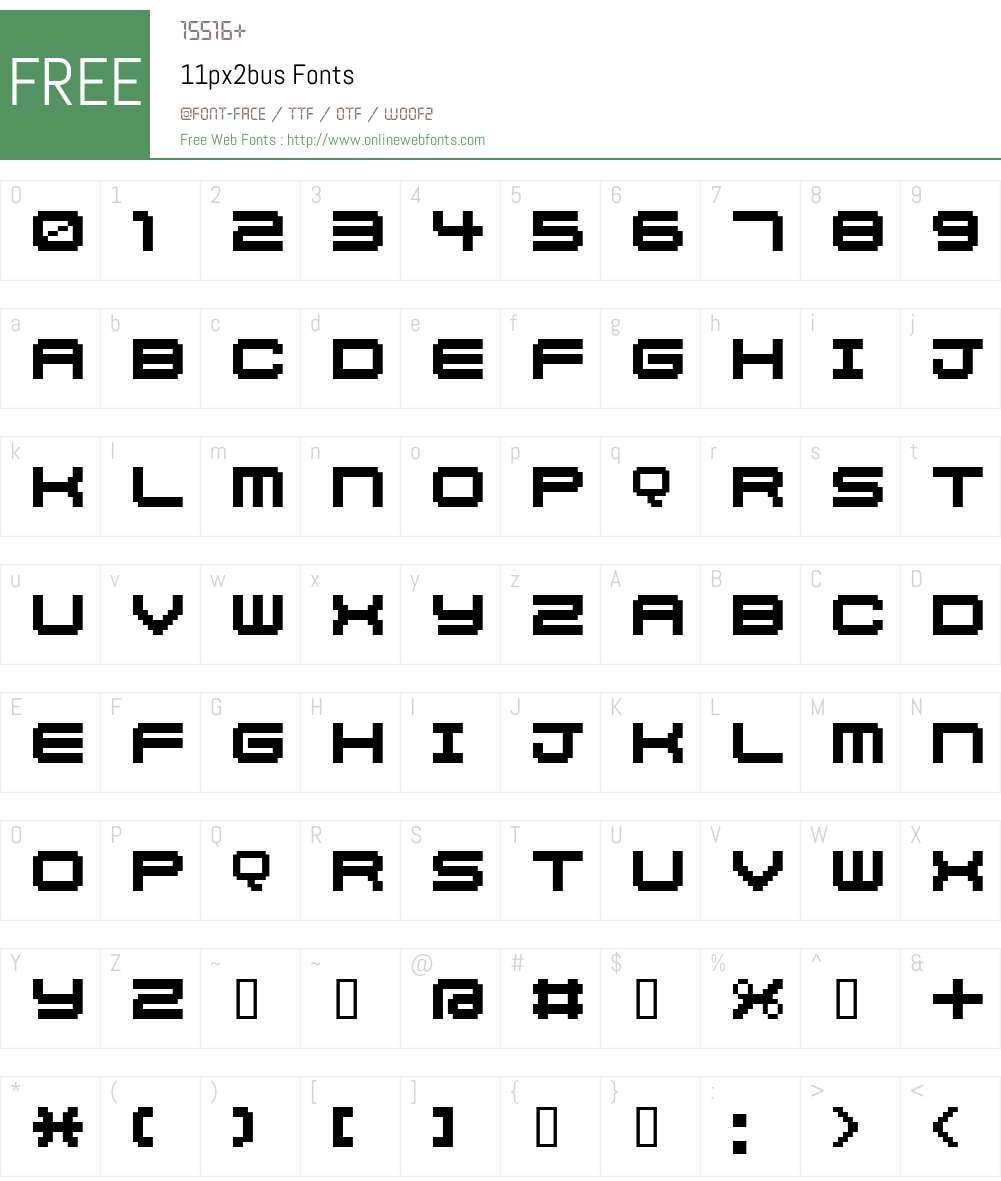 11px2bus Font Screenshots