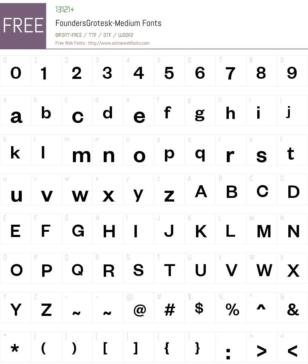 Founders Grotesk Medium Font Screenshots