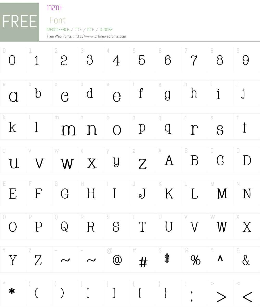 Whackadoo Font Screenshots