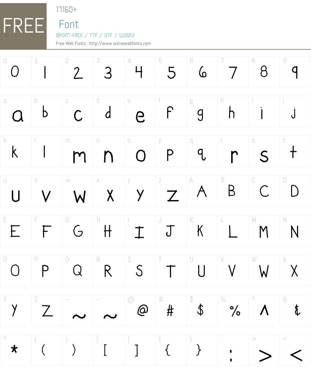 KBWashi Font Screenshots