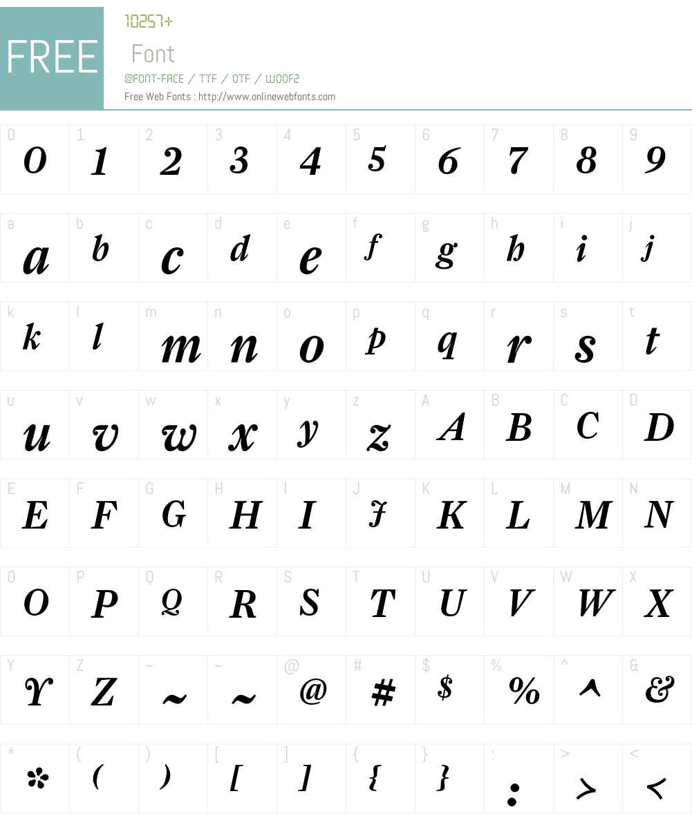 FarnhamDisplay-MediumItal Font Screenshots