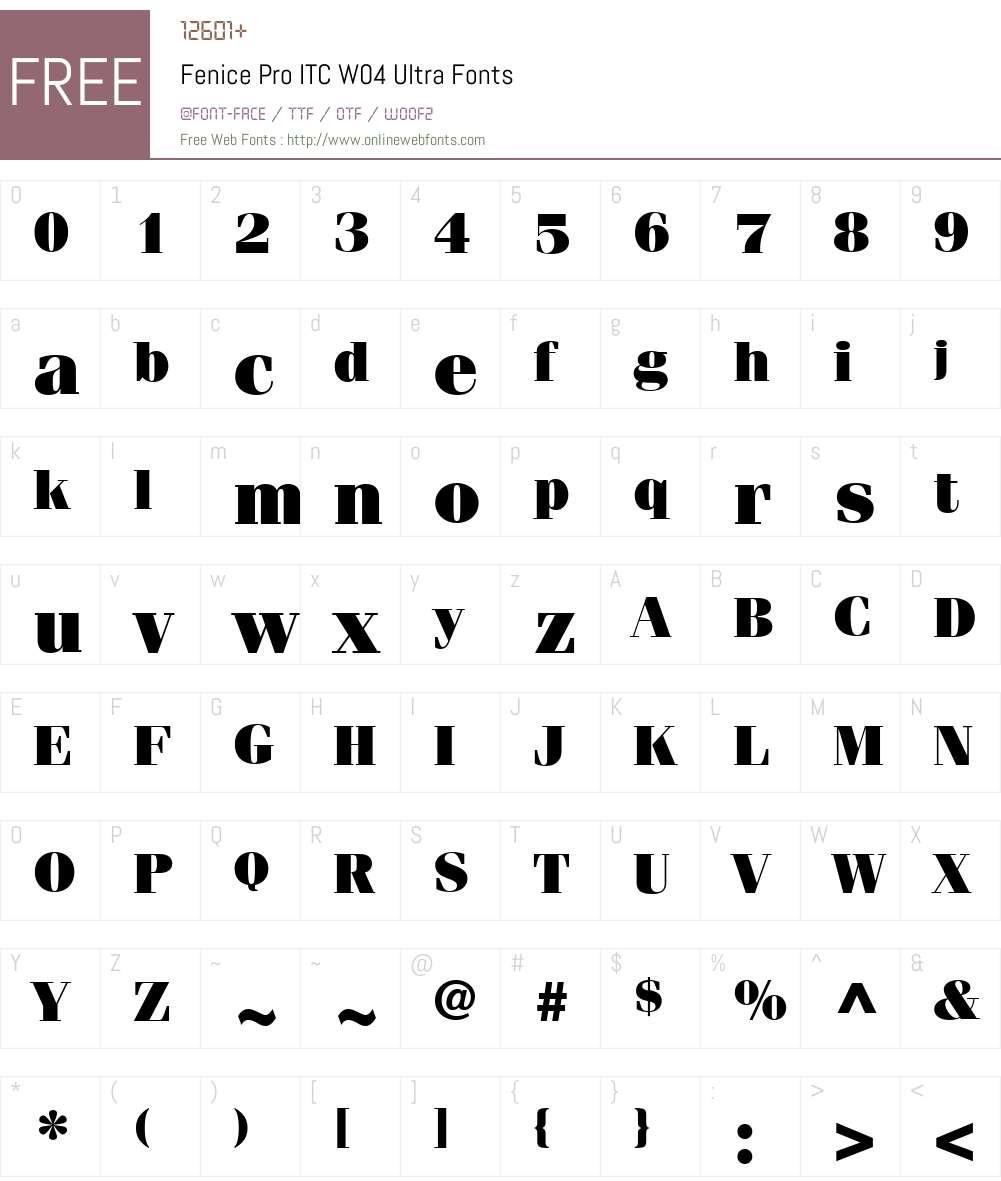 ITC Fenice Font Screenshots