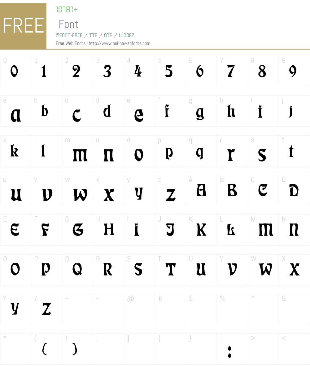 Rudelsberg-Normal Font Screenshots