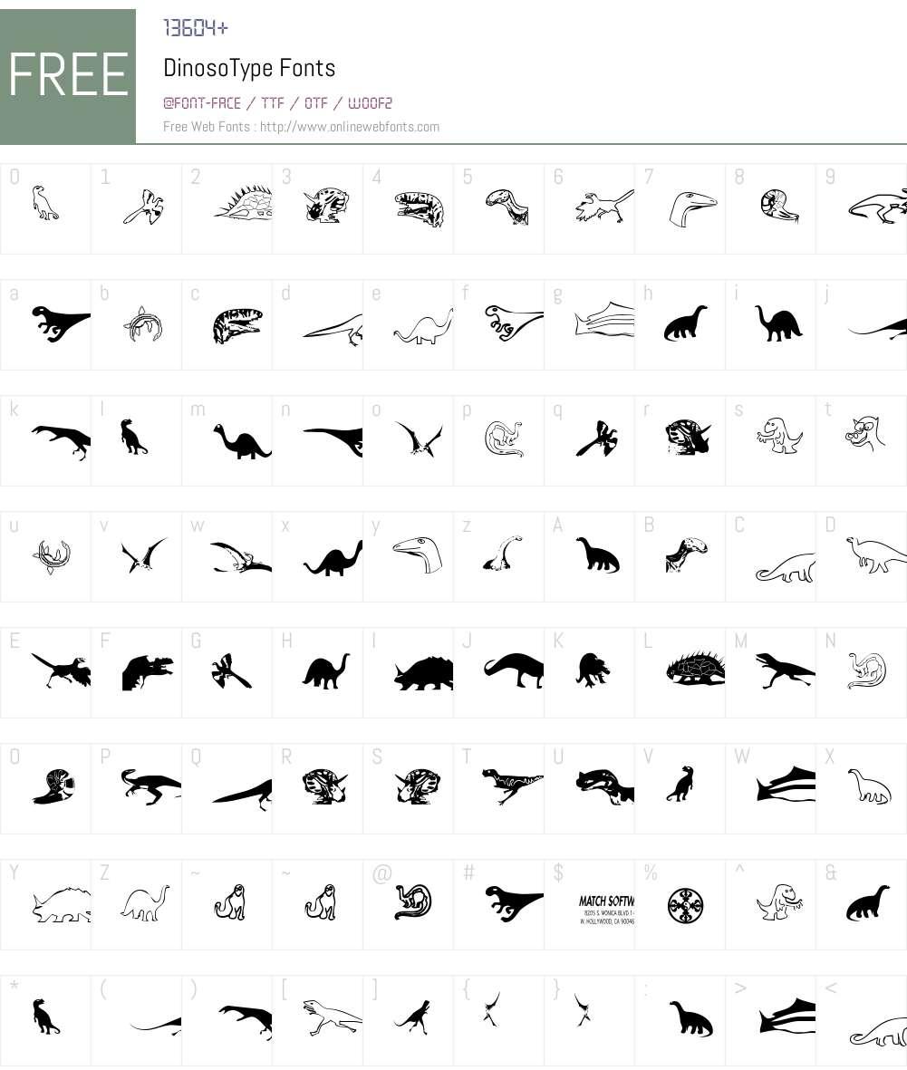 DinosoType Font Screenshots