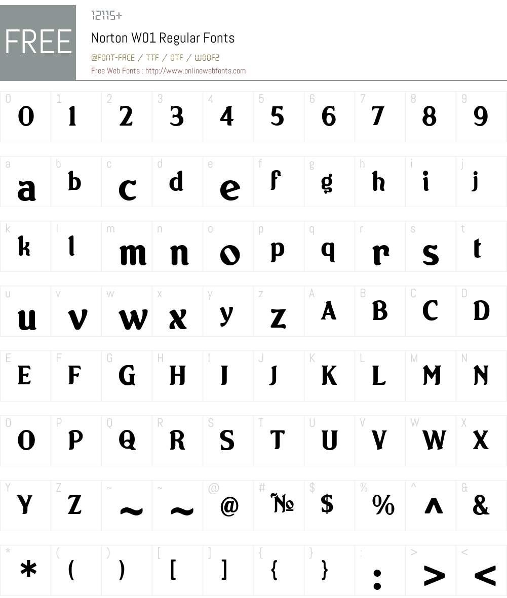 Norton Font Screenshots