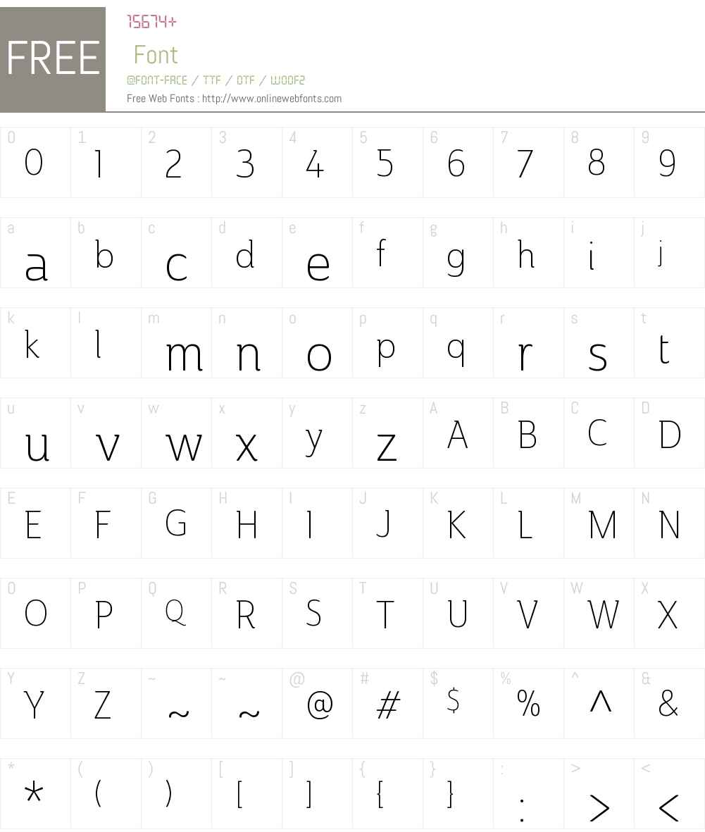 AinslieW01-CondLight Font Screenshots