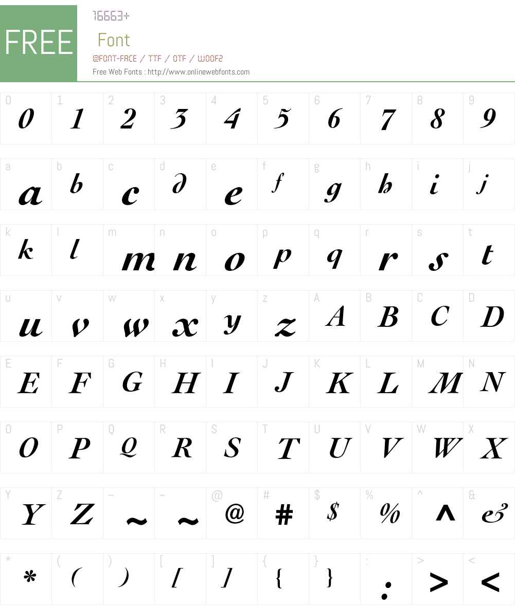 Le Cochin BQ Font Screenshots
