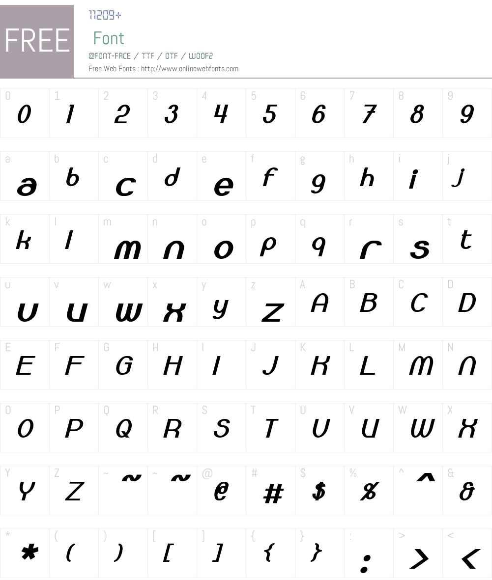 Bloomingworth Font Screenshots