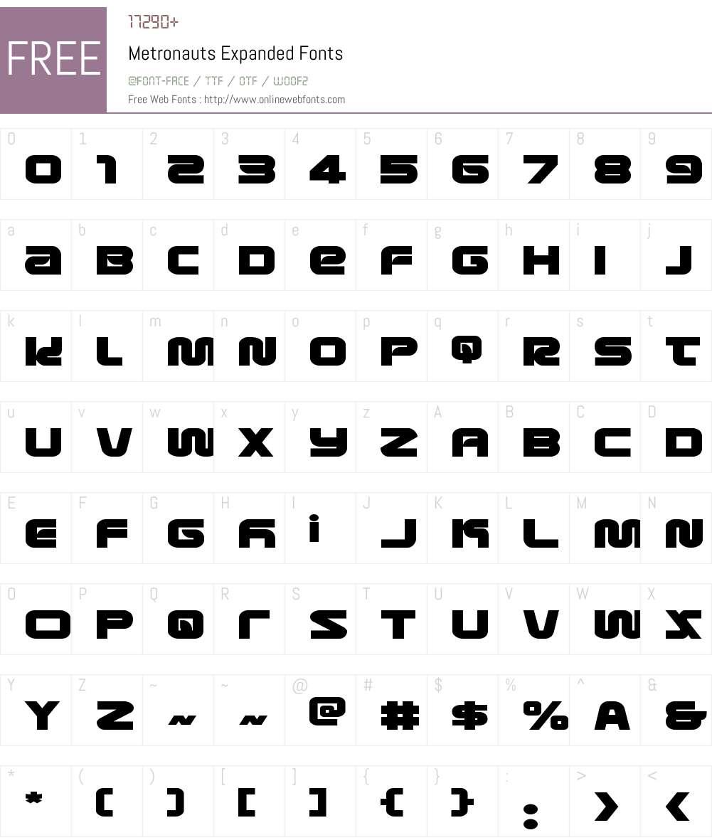 Metronauts Expanded Font Screenshots