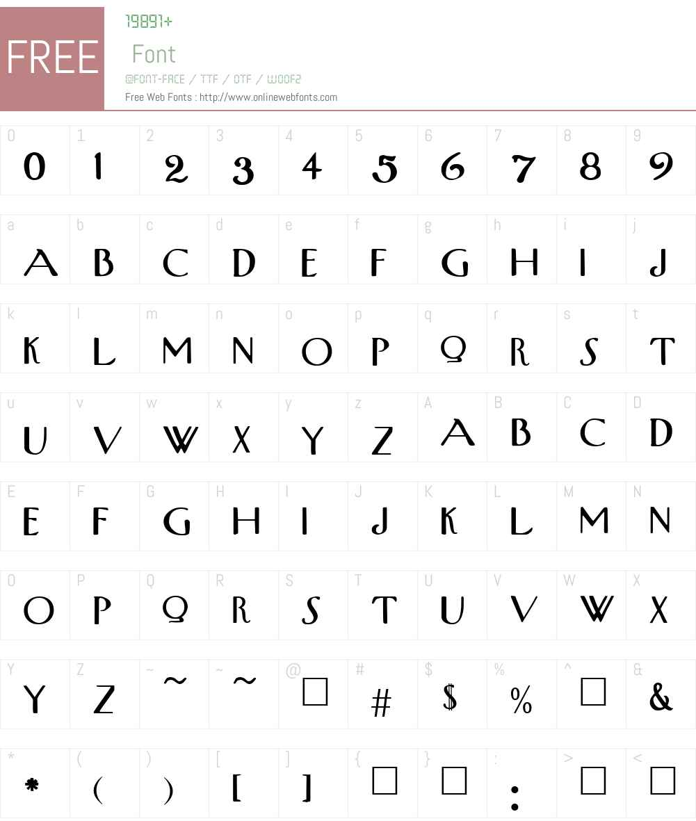 UpperWestSide Font Screenshots