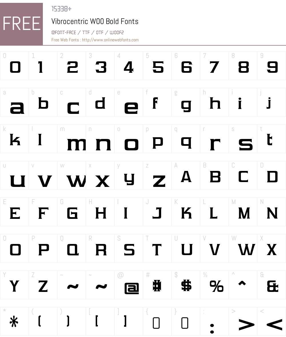 VibrocentricW00-Bold Font Screenshots