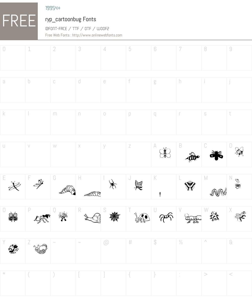 ryp_cartoonbug Font Screenshots
