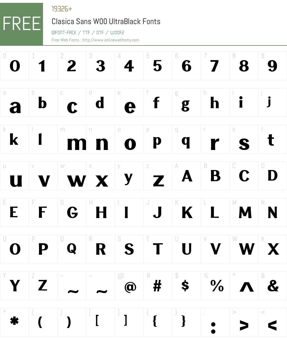 Clasica Sans Font Screenshots